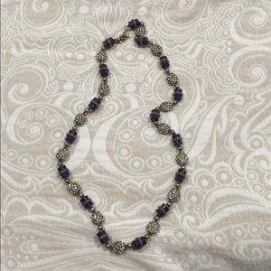 J. Crew rhinestone and beaded necklace
